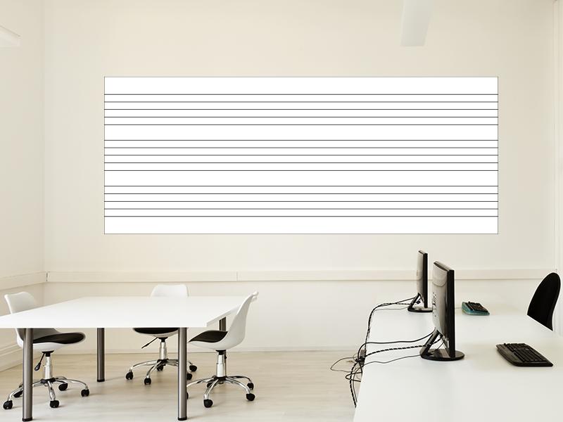 Magnetische Whiteboardfolie Notenlinien | selbstklebend | magnetisch | 200x100cm